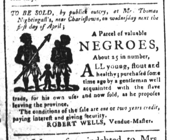 Mar 27 - South-Carolina and American General Gazette Slavery 10