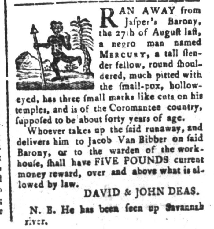 Mar 27 - South-Carolina and American General Gazette Slavery 5