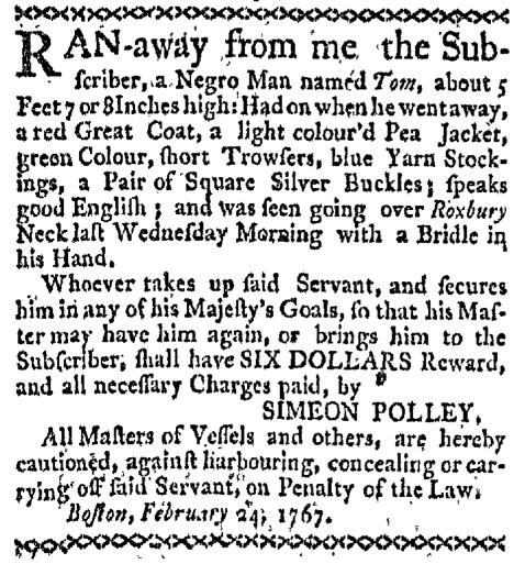Mar 30 - Boston-Gazette Slavery 3