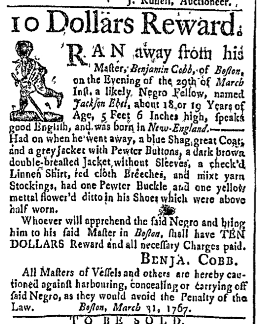 Mar 30 - Boston Post-Boy Slavery 1