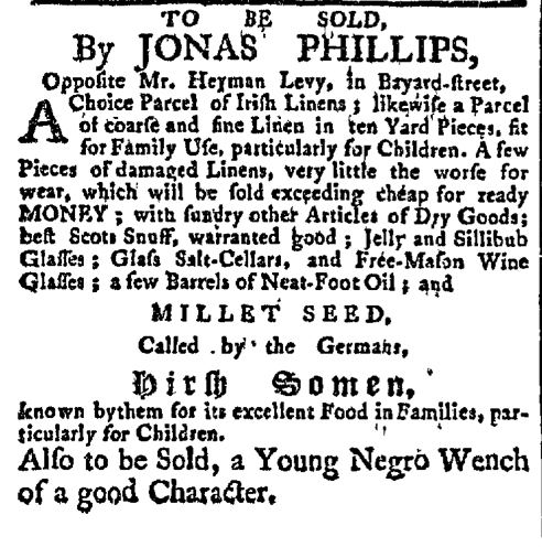 Mar 30 - New-York Gazette Slavery 2