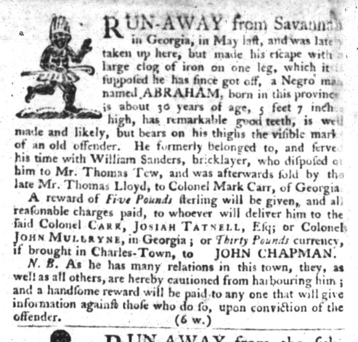 Mar 31 - South-Carolina Gazette and Country Journal Supplement Slavery 10