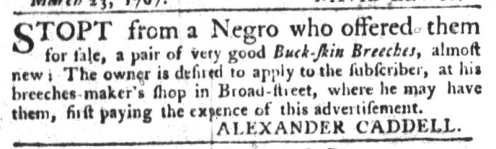 Mar 31 - South-Carolina Gazette and Country Journal Supplement Slavery 7