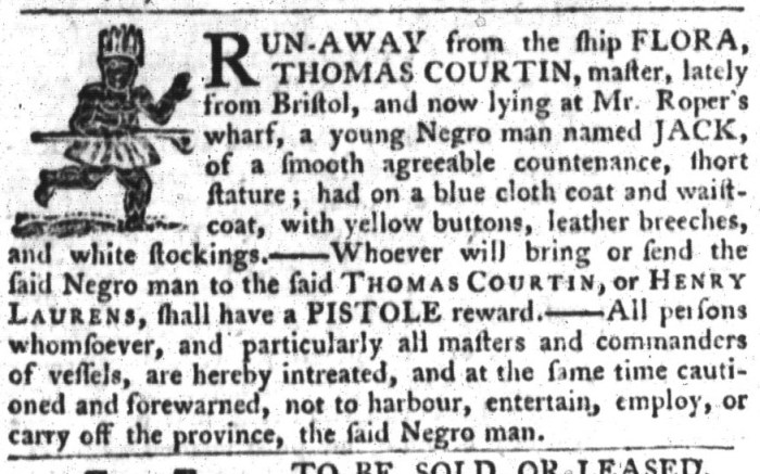 Apr 21 - South-Carolina Gazette and Country Journal Slavery 11