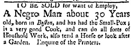 Apr 27 - Boston Evening-Post Slavery 1