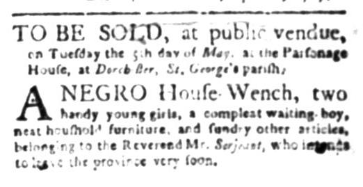 Apr 27 - South Carolina Gazette Slavery 2
