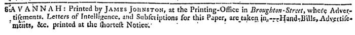 Apr 29 - 4:29:1767 Georgia Gazette