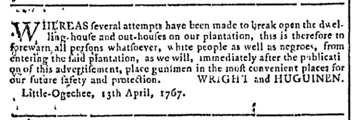 Apr 29 - Georgia Gazette Slavery 5
