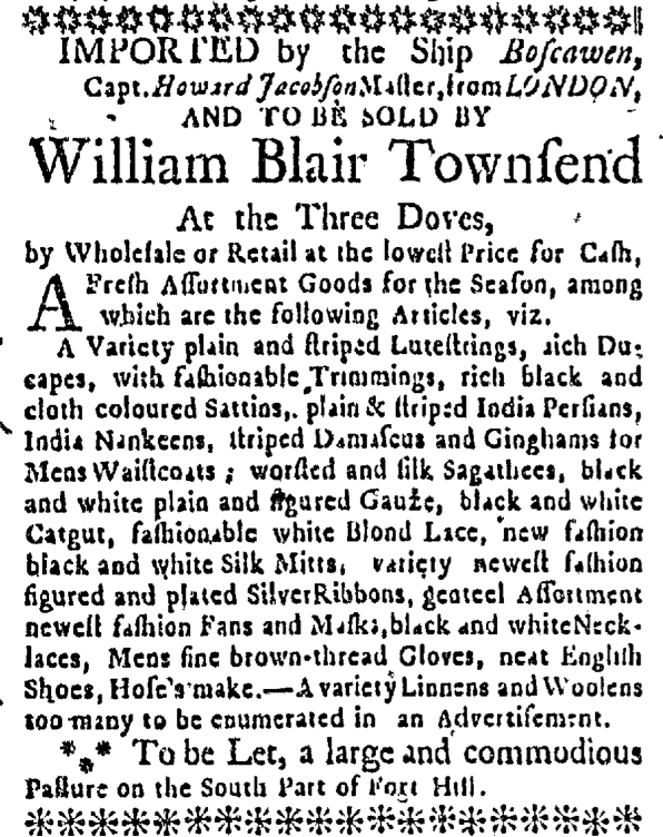 Apr 30 - 4:30:1767 Boston News-Letter