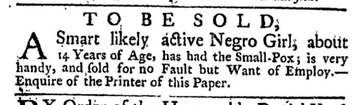 Apr 9 - New-York Gazette Weekly Post-Boy Slavery 1