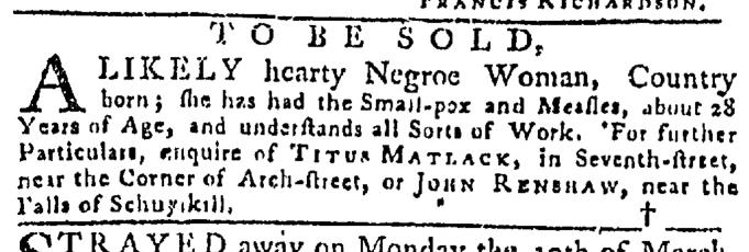 Apr 9 - Pennsylvania Gazette Slavery 2