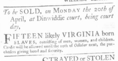 Apr 9 - Virginia Gazette Slavery 4