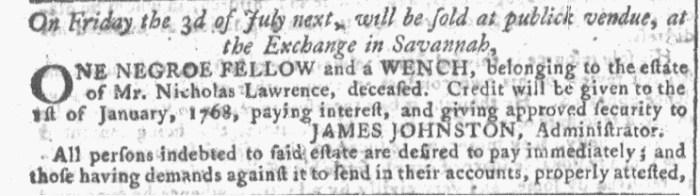 Jun 3 - Georgia Gazette Slavery 4