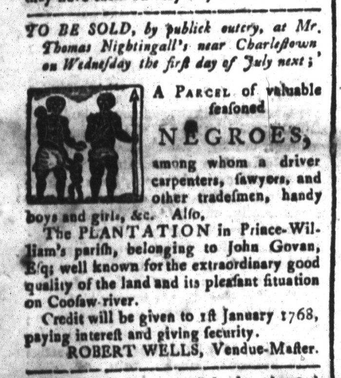 Jun 5 - South-Carolina and American General Gazette Slavery 4