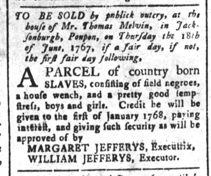 Jun 5 - South-Carolina and American General Gazette Slavery 5