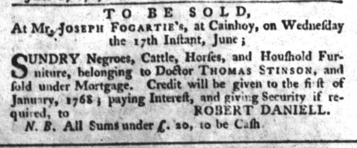Jun 9 - South-Carolina Gazette and Country Journal Slavery 3