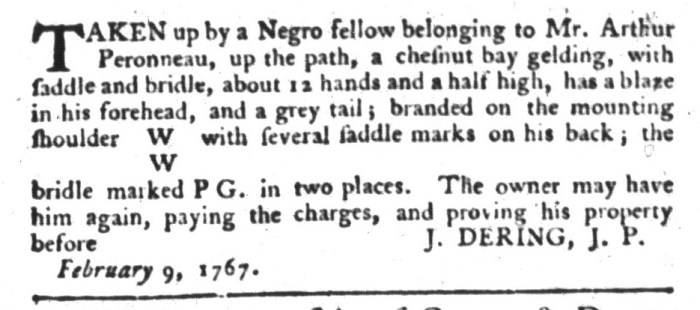 Jun 9 - South-Carolina Gazette and Country Journal Supplement Slavery 1