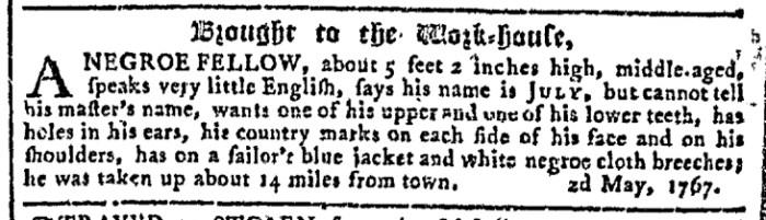 May 13 - Georgia Gazette Slavery 6