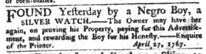 May 13 - South-Carolina Gazette and Country Journal Extraordinary Slavery 3