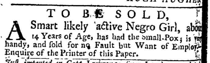 May 21 - New-York Gazette Weekly Post-Boy Slavery 2