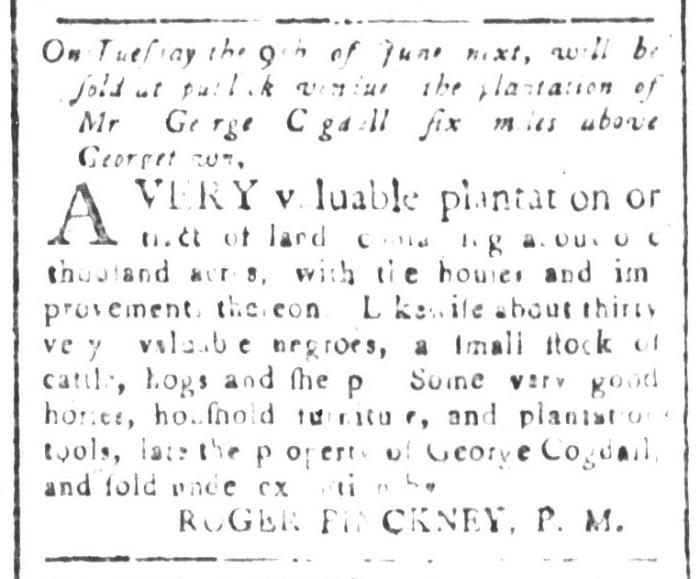 May 22 - South-Carolina and American General Gazette Slavery 1