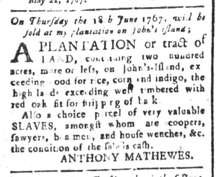May 22 - South-Carolina and American General Gazette Slavery 4