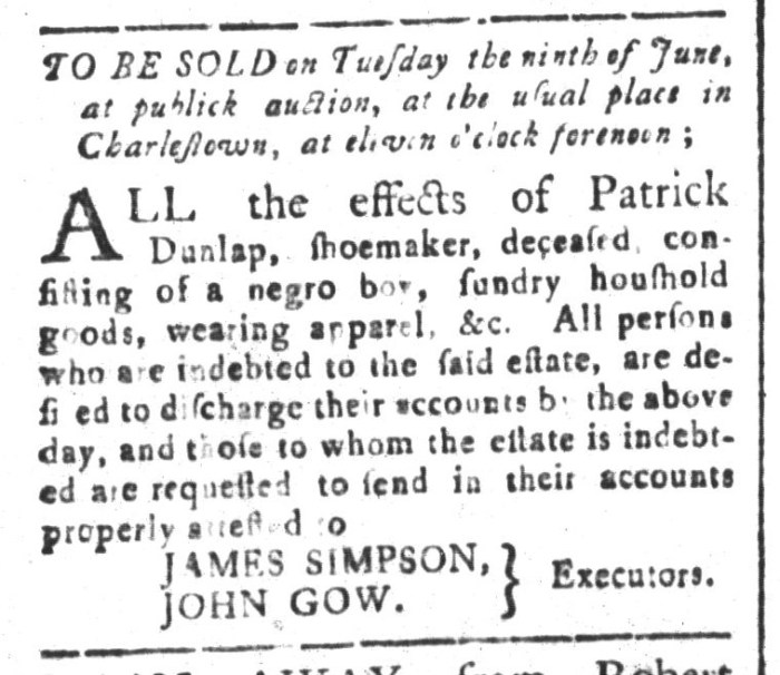 May 22 - South-Carolina and American General Gazette Slavery 5