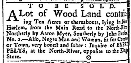 May 25 - New-York Gazette Slavery 1