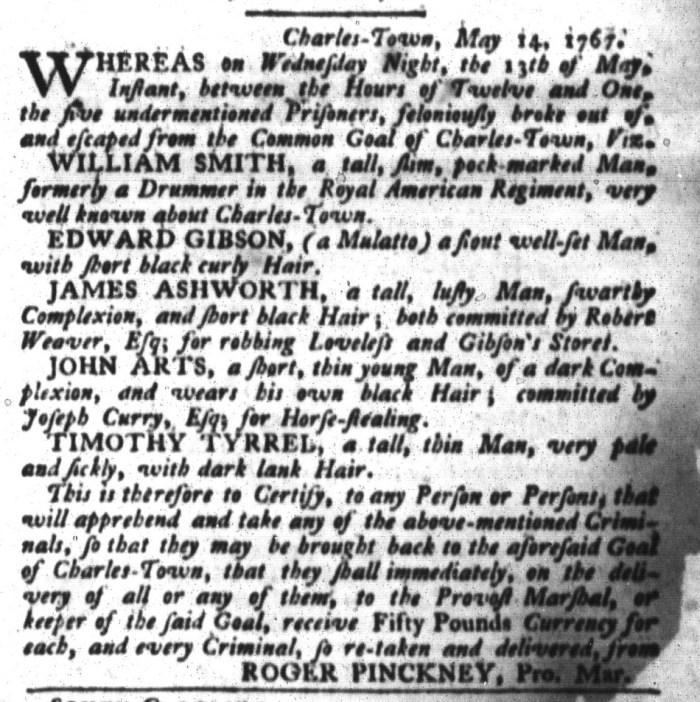 May 26 - South-Carolina Gazette and Country Journal Slavery 5