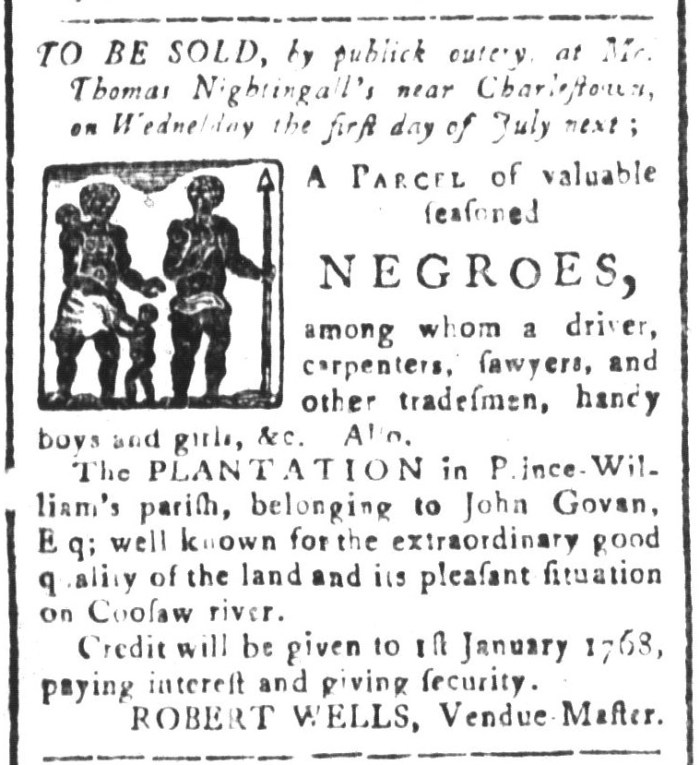 May 29 - South-Carolina and American General Gazette Slavery 4