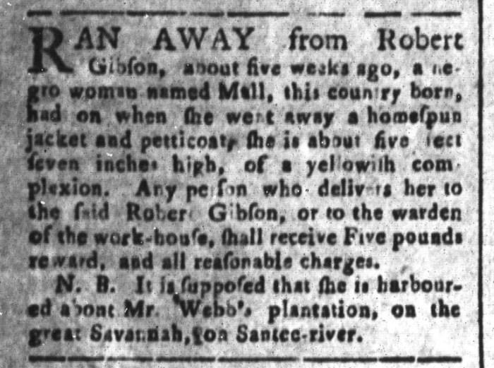 May 29 - South-Carolina and American General Gazette Slavery 8