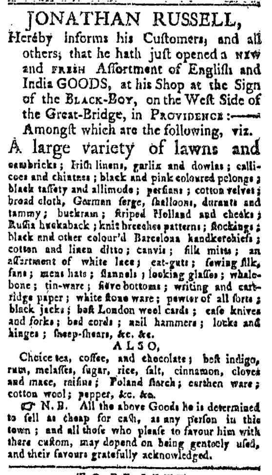 May 30 - Providence Gazette Slavery 1
