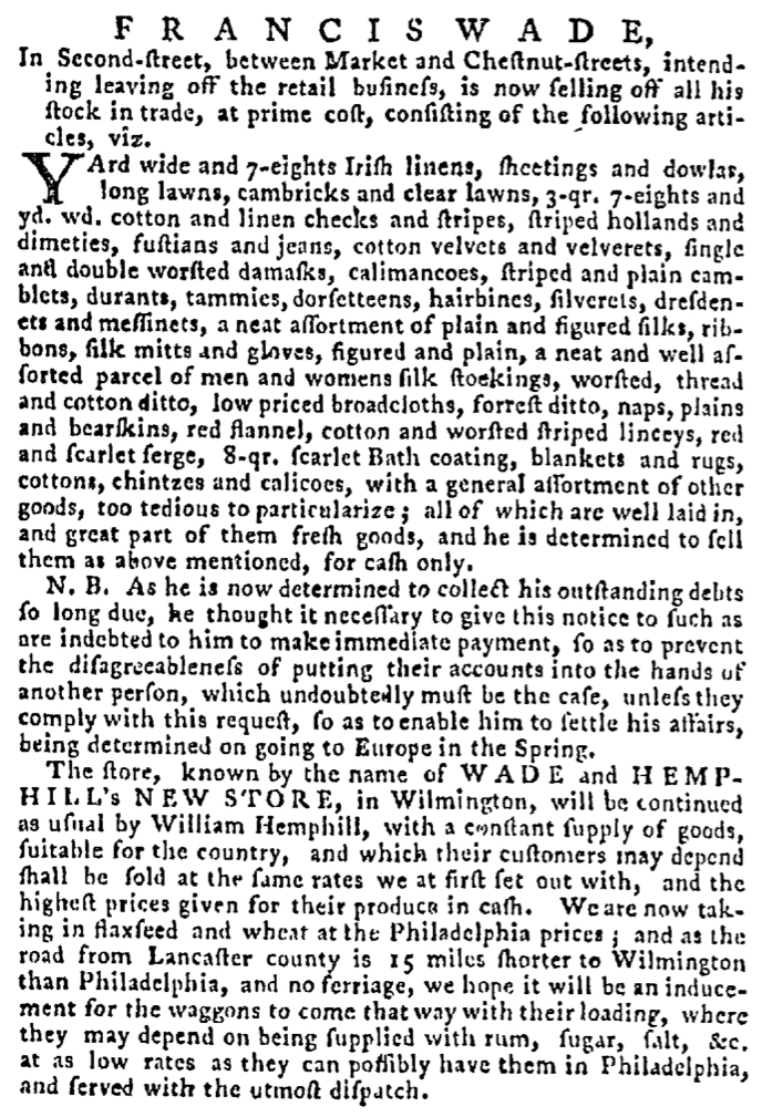 May 31 - 5:28:1767 Pennsylvania Gazette