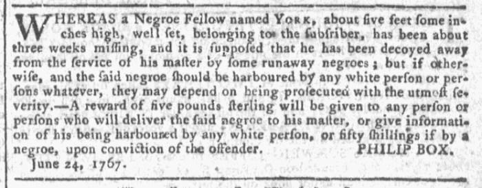 Jul 1 - Georgia Gazette Slavery 6