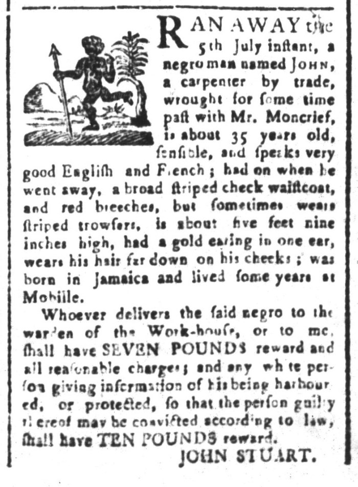 Jul 10 - South-Carolina and American General Gazette Slavery 1