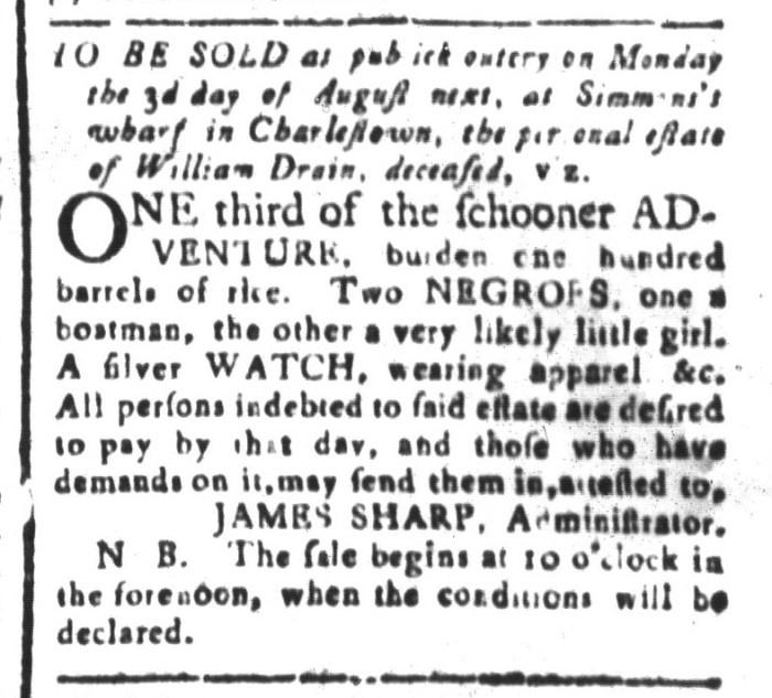 Jul 10 - South-Carolina and American General Gazette Slavery 3