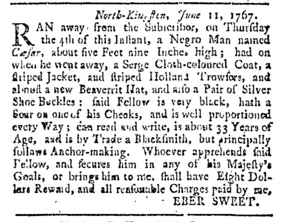 Jul 18 - Providence Gazette Slavery 1