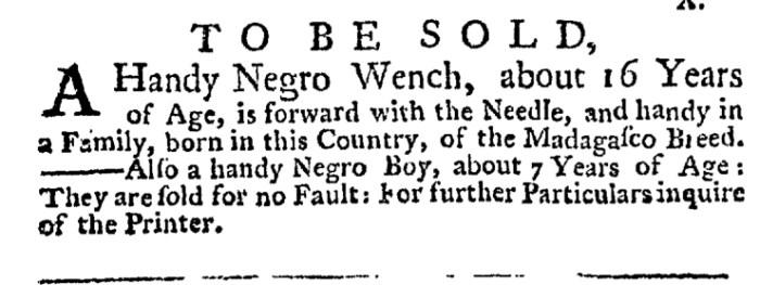 Jul 2 - New-York Gazette Weekly Post-Boy Slavery 1