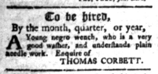 Jul 20 - South Carolina Gazette Slavery 1
