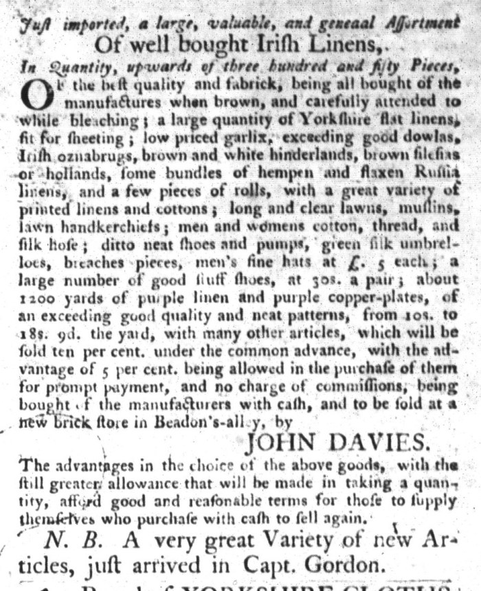 Jul 21 - 7:21:1767 South-Carolina Gazette and Country Journal Supplement