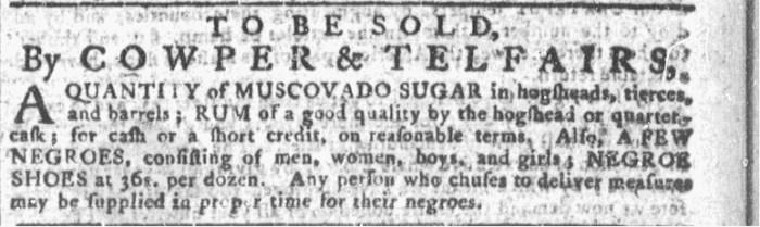 Jul 22 - Georgia Gazette Slavery 1
