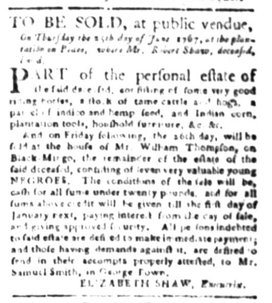 Jun 15 - South Carolina Gazette Slavery 7