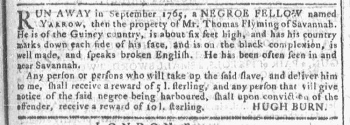 Jun 17 - Georgia Gazette Slavery 3