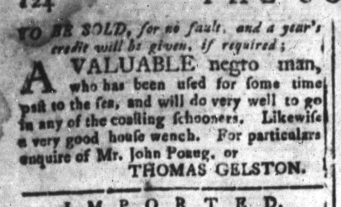 Jun 19 - South-Carolina and American General Gazette Slavery 5