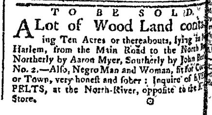 Jun 22 - New-York Gazette Slavery 2