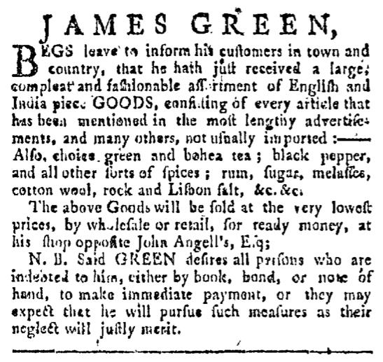 Jun 27 - 6:27:1767 Providence Gazette