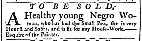 Jun 29 - New-York Gazette Slavery 1