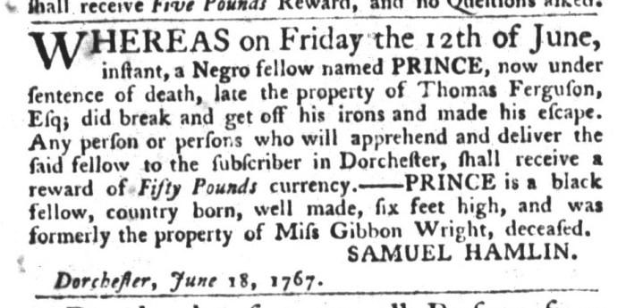 Jun 30 - South-Carolina Gazette and Country Journal Slavery 7