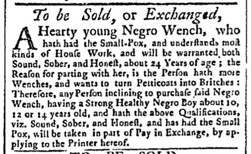 Aug 3 - New-York Gazette Slavery 2