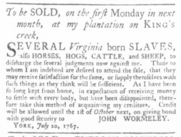 Jul 23 - Virginia Gazette Slavery 2